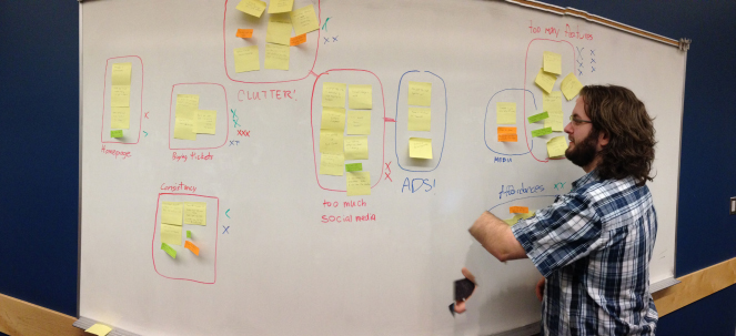 Affinity diagram used to brainstorm ideas about most important features in the app.